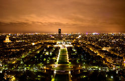 noc Paris linia horyzontu Zdjęcie Royalty Free