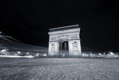 noc Paris ruch drogowy Obraz Royalty Free