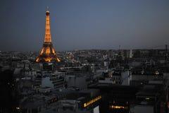 Noc Paryż Zdjęcie Royalty Free