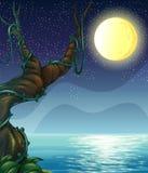 Noc pełno gwiazdy ilustracji
