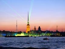 noc Petersburg biel Obraz Royalty Free
