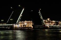 noc Petersburg Russia święty Obrazy Royalty Free