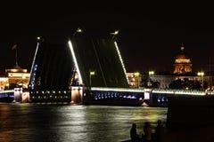 noc Petersburg Russia święty Zdjęcia Royalty Free