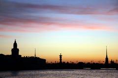 noc Petersburg Russia st biel Zdjęcia Royalty Free