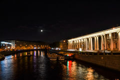 noc Petersburg st Zdjęcie Stock