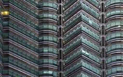 noc Petronas góruje bliźniaka zdjęcia stock