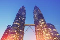 noc Petronas wieże Fotografia Royalty Free