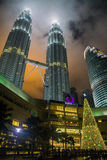 noc Petronas wieże Fotografia Stock