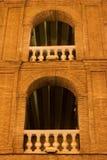 Noc plaza de Valencia Hiszpanii toros Zdjęcie Stock