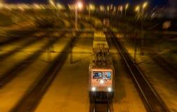 Noc pociąg Obrazy Royalty Free