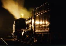noc pociąg zdjęcie stock
