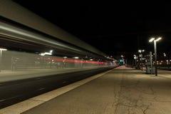 Noc pociąg Obraz Stock