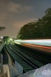 noc pociąg Zdjęcia Stock