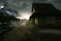 Noc pociąg ekspresowy Obrazy Stock