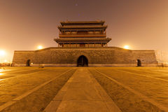 Noc pod yongdingmen bramą Zdjęcie Royalty Free
