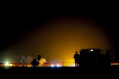 Noc pokaz lotniczy Obraz Royalty Free