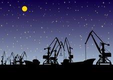 noc port ilustracji