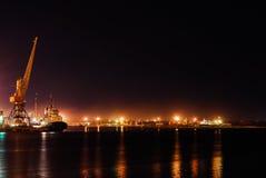 Noc port Obrazy Stock