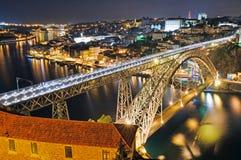 noc Porto Zdjęcia Royalty Free