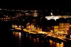 noc Porto zdjęcie stock