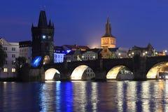 noc Prague Fotografia Stock