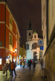 noc Prague obraz stock