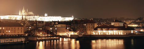 noc Prague Zdjęcie Stock