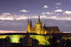 noc Prague linia horyzontu Zdjęcie Royalty Free