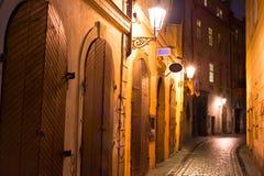noc Prague street Obrazy Royalty Free