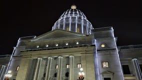 Noc przy Arkansas Capitol obrazy stock
