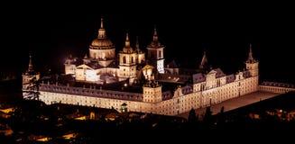 Noc przy El Escorial Obrazy Royalty Free