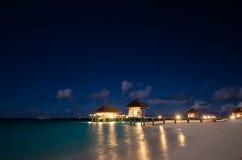 Noc przy Maldives Obrazy Stock