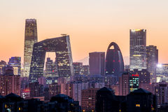 Noc przy Pekin Zdjęcie Royalty Free