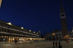Noc przy piazza San Marco Zdjęcia Royalty Free