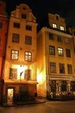 Noc przy Stortorget w Sztokholm Zdjęcia Stock