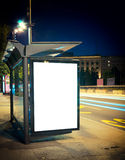 Noc przystanek autobusowy Obrazy Royalty Free