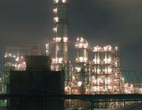 noc rafineria Zdjęcie Stock