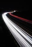 noc ruch drogowy Fotografia Royalty Free