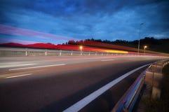 noc ruch drogowy Obrazy Stock