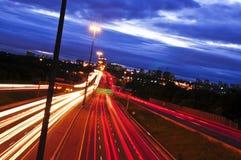 noc ruch drogowy Zdjęcie Royalty Free