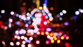 Noc ruch drogowy na ulicach NYC zbiory wideo