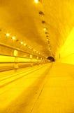 noc ruch drogowy tunel Zdjęcie Stock