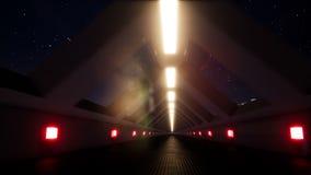 Noc ruch wśrodku długiego tunelu royalty ilustracja
