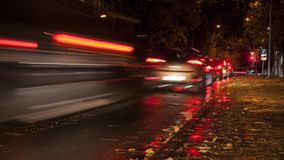 Noc ruchu drogowego czasu upływ obraz stock