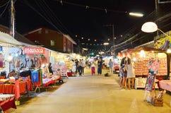 Noc rynek w Pai, północny Tajlandia Obrazy Stock