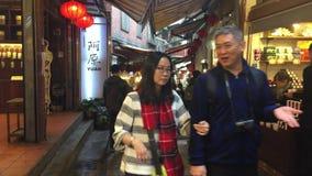Noc rynek w Taipei zbiory wideo