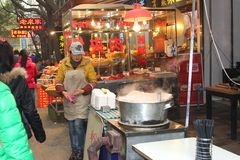 Noc rynek w Xian, Chiny Zdjęcia Stock