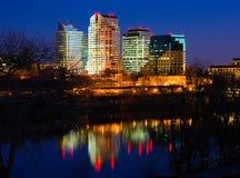 noc Sacramento linia horyzontu zdjęcia royalty free