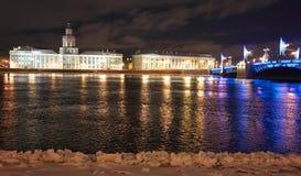 Noc Saint-Petersburg zdjęcie royalty free
