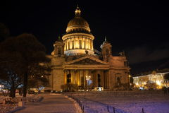 Noc Saint-Petersburg obraz royalty free